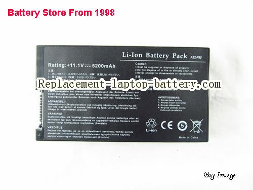 ASUS F80S Battery 5200mAh Black