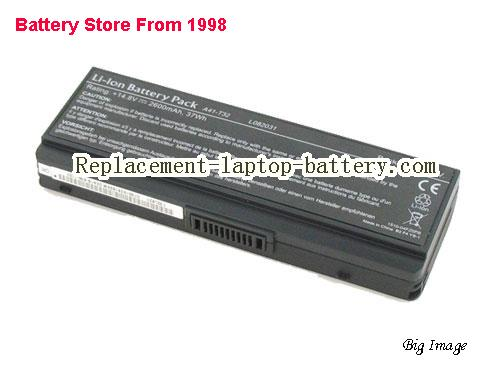 ASUS EasyNote BG45-U-009D Battery 2600mAh Black