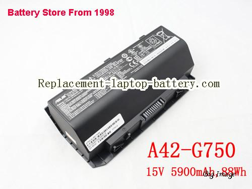 ASUS A42-G750 Battery 5900mAh, 88Wh  Black