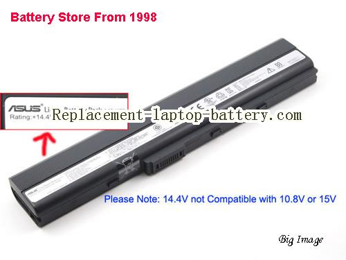 ASUS A32-K52 Battery 4400mAh, 63Wh  Black
