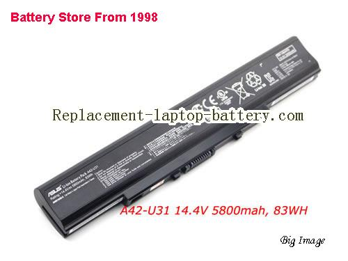 ASUS U31S Battery 5800mAh Black