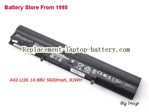 ASUS U36SD-XH71 Battery 5600mAh, 83Wh  Black
