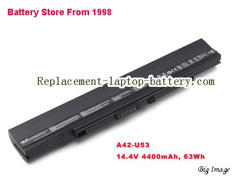 ASUS U52F Battery 4400mAh, 63Wh  Black