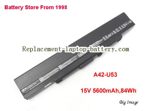 ASUS U53F Battery 5600mAh, 84Wh  Black