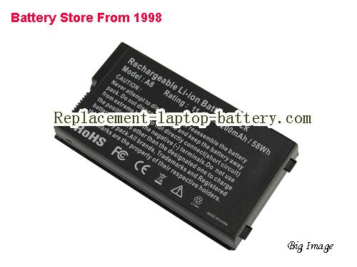 ASUS A32-A8 Battery 5200mAh, 58Wh  Black