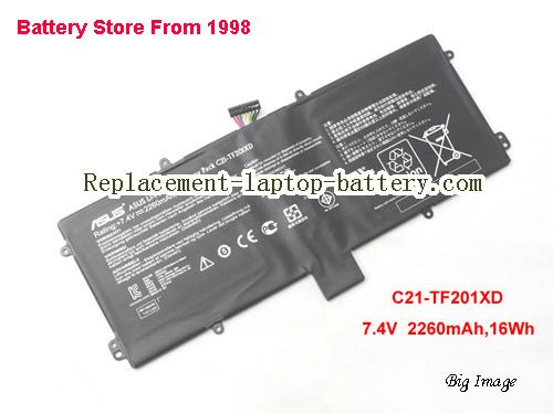 ASUS C21-TF201XD Battery 2260mAh, 16Wh  Balck