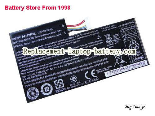 AC13F3L Tablet Battery for ACER Iconia Tab A1 A1-810 8GB 16GB Tablet