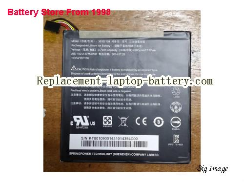 ACER A1-840FHD-10L2 Battery 4600mAh, 17.02Wh  Black