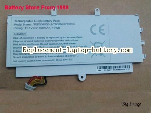 ACER 3UF504553-1-T0686 Battery 1400mAh, 16Wh  White