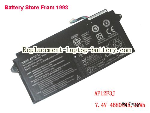ACER S7 3915466 Battery 4680mAh Black