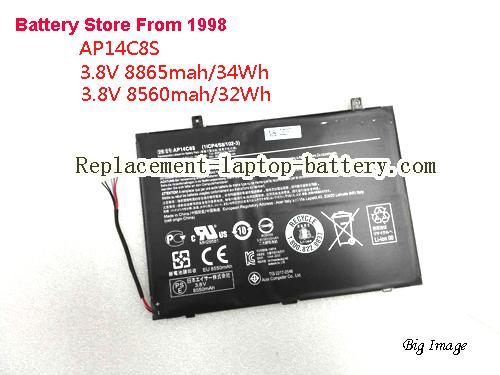 Genuine ACER Aspire Switch11 Laptop Battery AP14C8S 32Wh 8560mah