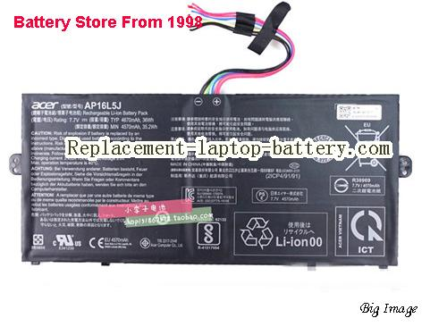 ACER 2ICP4/91/91 Battery 4670mAh, 36Wh  Black