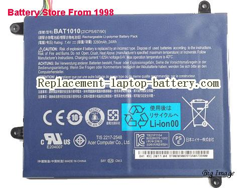 ACER 2ICP 5/67/89 Battery 3260mAh, 24Wh  Black