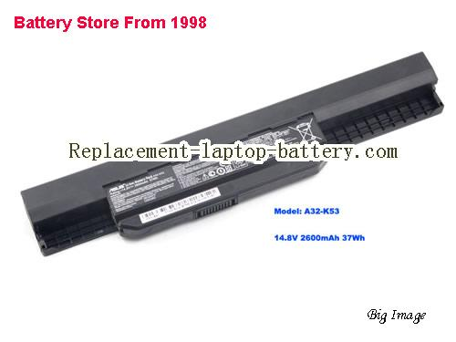 ASUS X44EI2328HR-SL Battery 2600mAh, 37Wh  Black