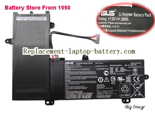 ASUS C21N1504 Battery 4840mAh, 38Wh  Black