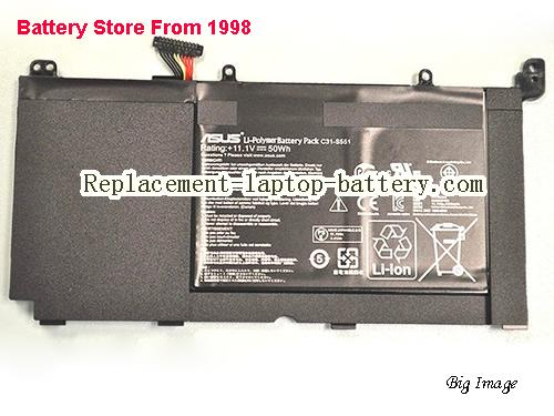 Laptop Battery for ASUS C31-S551 S551 11.1v 50Wh