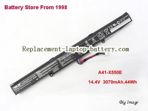 ASUS F550ZE Battery 3070mAh, 44Wh  Black