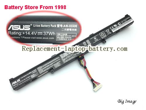 ASUS A41-X550E Battery 2500mAh, 37Wh  Black