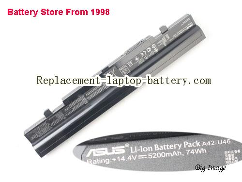 ASUS U56JC Battery 5200mAh, 74Wh  Black