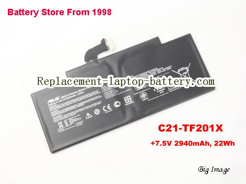 ASUS TF300T Battery 2940mAh, 22Wh  Black