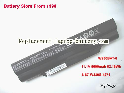 HASEE K350C Battery 5600mAh, 62.16Wh  Black