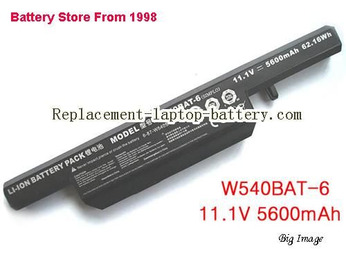 CLEVO W551SU1 Battery 5600mAh, 62.16Wh  Black