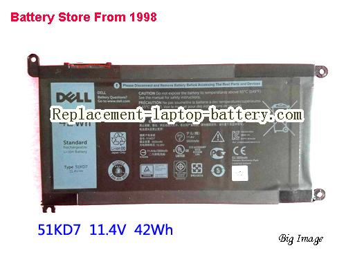 DELL JOPGR Battery 42Wh Black