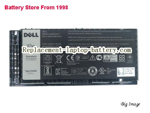 DELL MHPKF Battery 8700mAh, 97Wh  Black