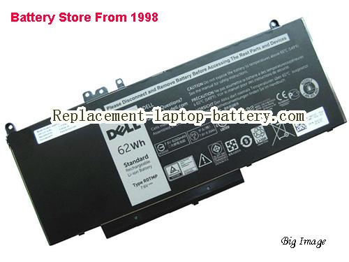 DELL R0TMP Battery 8260mAh, 62Wh  Black