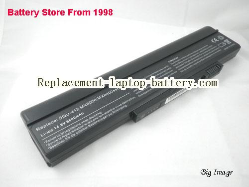 GATEWAY 916C6840F Battery 6600mAh Black