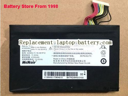 HASEE Z7M-i78172 D1 Battery 4100mAh, 46.74Wh  Black