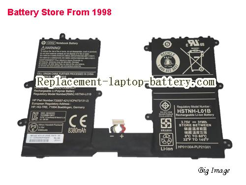 HP 733057-421 Battery 8380mAh, 31Wh  Black