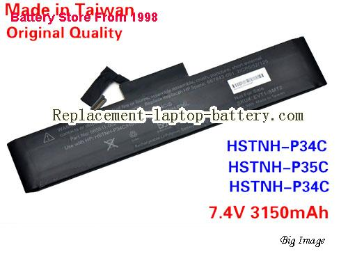 HP HSTNN-S34C-S Battery 3150mAh Black