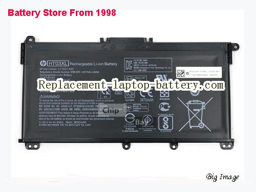 HP HT03XL Battery 3600mAh, 41.04Wh  Black