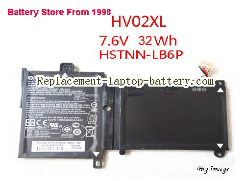 HP hstnn-lb6p Battery 32Wh Black