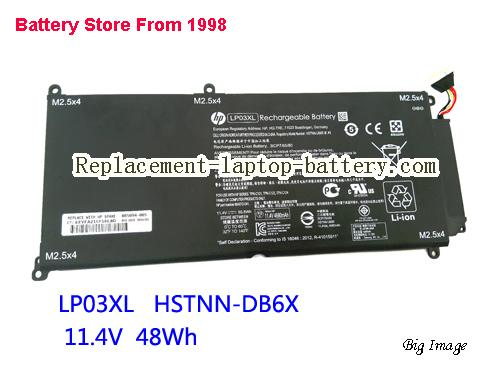 HP HSTNN-DB6X Battery 48Wh Black