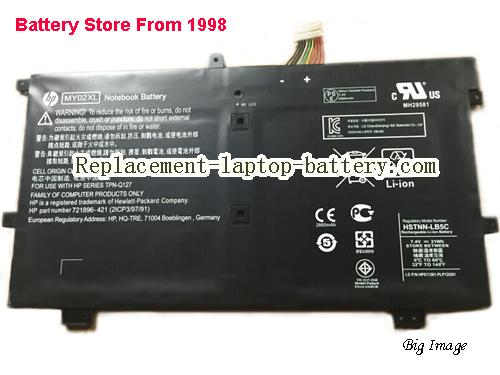 HP MY02XL Battery 21Wh Black