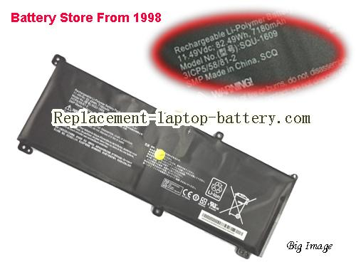 HASEE 3ICP5/58/81-2 Battery 7180mAh, 72.49Wh  Black