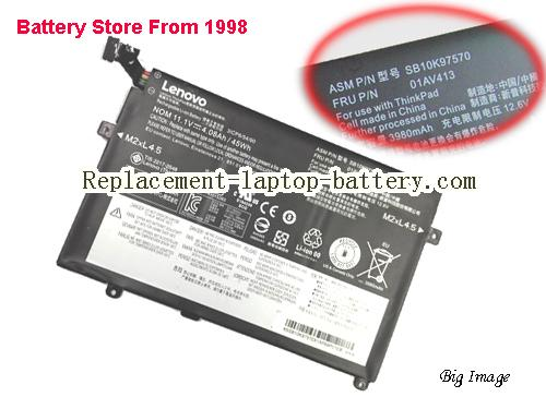 LENOVO ThinkPad E470(20H1A007CD) Battery 3880mAh, 45Wh , 4.05Ah Black