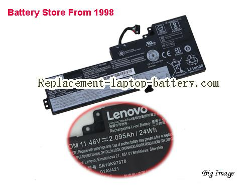 LENOVO T480 Battery 24Wh, 2.095Ah