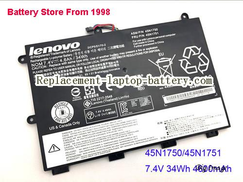 LENOVO ThinkPad 11E Yoga Battery 34Wh Black