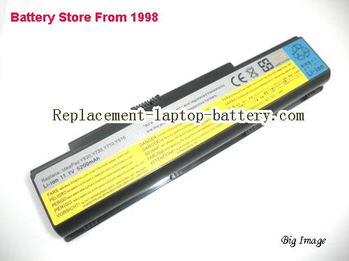 Lenovo IdeaPad Y530 Y510 IdeaPad Y710 Y730 L08P6D11 Replacement  Laptop Battery