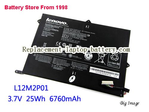 LENOVO L12M2P01 Battery 6700mAh, 25Wh  Black
