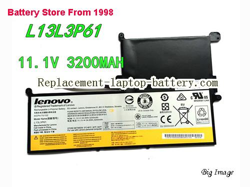 LENOVO L13L3P61 Battery 3200mAh, 34.8Wh  Black