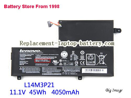 LENOVO Yoga 500-15 Battery 4050mAh, 45Wh  Black