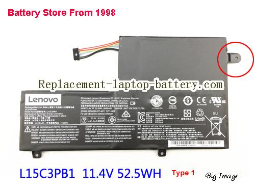 LENOVO Yoga 510 Battery 4645mAh, 52.5Wh  Black
