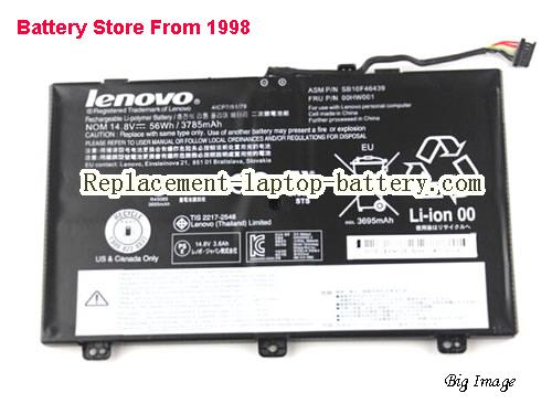 LENOVO ThinkPad S3(20AXS00100) Battery 3785mAh, 56Wh  Black