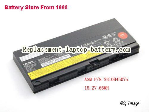 LENOVO ThinkPad P50 Mobile Workstation Battery 4360mAh, 66Wh  Black