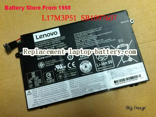 LENOVO ThinkPad E480-20KNA00CCD Battery 4080mAh, 45Wh  Black