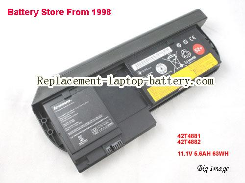 Genuine LENOVO X220T X220 Tablet Battery laptop 42T4881 42T4882 11.1V 5.6AH 63WH